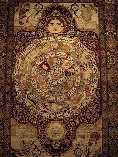 Antico tappeto persiano di seta (Iran)