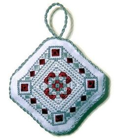 Cross Stitch Christmas Ornament by Erin Turowski https://www.etsy.com/listing/112386612/cross-stitch-ornament-christmas-ornament