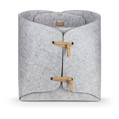 [Toy Storage Ideas] Kasefox Felt Storage Bin - Natural Tan Suede Ties - Premium Grey Felt Organizing Basket - Square Fabric Organizer for Home, Office, Nursery, Toys, Dorm, Closet – Fits in Cube Storage Shelves - Medium >>> Learn more by visiting the image link. (This is an affiliate link) #ToyStorageIdeas