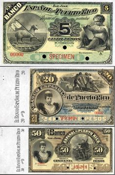Pesos de Puerto Rico / Puerto Rico currency