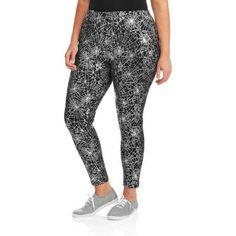 75190e7f22220 Faded Glory - Women's Plus-Size Halloween Spider Webs Essential Leggings -  Walmart.com