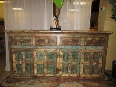e: $999.99 | Item #: 40095  The colors in this solid, reclaimed wood buffet are stunning! It has a row of four drawers on top of the four doors on the…