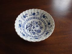 J&G Meakin Classic White Ironstone Scalloped Blue Nordic  Cereal Bowl! by BucketListGarnishes on Etsy