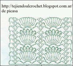 PATRONES=GANCHILLO = CROCHET = GRAFICOS =TRICOT = DOS AGUJAS: MAS PUNTOS PARA SEGUIR CON NUESTRA COLECCION A CROCHET