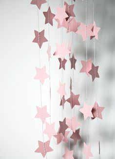 Baby paper garland - Pastel pink - pale pink garland decor - Baby shower - Sprinkle shower - Nursery - Boy or Girl - Mother's Day - Xmas on Etsy, $11.25 CAD