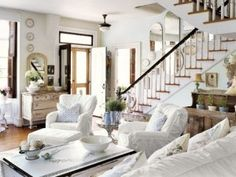 White Living Rooms - Ideas for White Living Room Decorating - Country Living