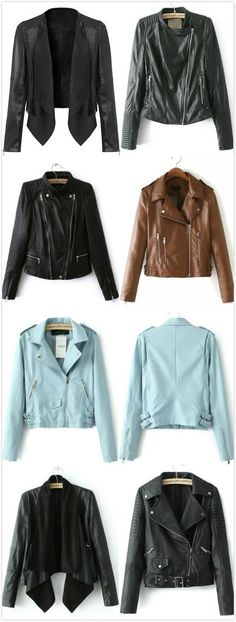 Chic and stylish leather jackets!  -SheIn