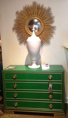 Green Paint Espalier (SW 6734) Lillian August chest photo courtesy of shay geyer via kristin peake interiors