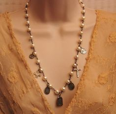 Religious Jewelry  Vintage Catholic Saint Medals by LoreleiDesigns, $129.00