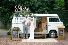 fun wedding photo booth from The Booth Bus! photo by Julie Cahill Photography