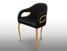 CHANDRA by KOKET http://www.bykoket.com/guilty-pleasures/upholstery/chandra-dining-chair.php