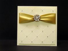TLC350 Blingy Wishes by ctorina - Cards and Paper Crafts at Splitcoaststampers... This would make a beautiful wedding card, you could even change the ribbon color to the brides colors.