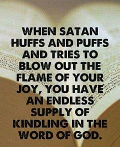 Endless kindling from Jehovah