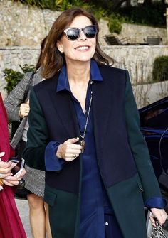 Princess Caroline of Hanover visit the New National Museum in Monaco on January 20, 2015