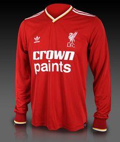 Adidas Originals, Liverpool FC, Crown Paints 1985 - 1986 shirt