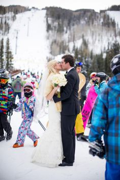 In their own world!  Vail Wedding by I Do Weddings in Vail www.IDoWeddingServices.com Photo property of www.jameephotography.com