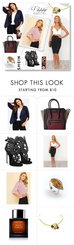 """""""Shein 1"""" by amelaa-16 ❤ liked on Polyvore featuring CÉLINE, Giuseppe Zanotti, BoonTheShop, MAC Cosmetics and shein"""