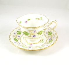 Royal Chelsea tea cup and saucer by UNSC2 on Etsy