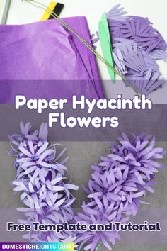 easy cricut paper flower free svg Hyacinth Flowers, Paper Flowers, Card Stock, Cricut, Templates, Create, Simple, Easy, Stencils