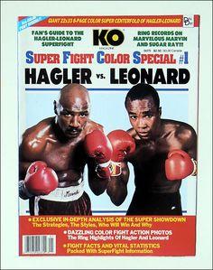 MARVIN HAGLER vs. SUGAR RAY LEONARD. #Boxing Marvelous Marvin Hagler, Boxing Images, Star Trek Posters, Boxing Posters, Professional Boxing, Boxing History, World Heavyweight Championship, Man Cave Art, Boxing Champions
