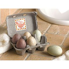 Egg Soaps, Set of 6
