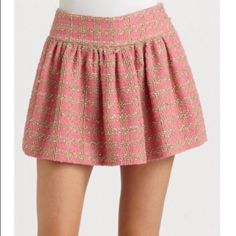 Red Valentino Pink Macro Boucle Skirt Good condition, like new, Sold Out Every Where RED Valentino Skirts