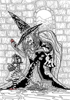 Wizard of oz coloring book for adults