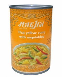 1 € - MAEJIN Thailändisches gelbes Gemüsecurry (Anzeige) Thai Yellow Curry, Vegetables, Foods, Vegetable Recipes, Veggies