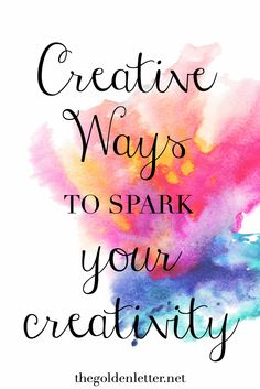 Creative Ideas to Get Your Creative Juices Flowing - Part One! Part Deux is in the works right meow! If you're stuck and can't seem to get in touch with your creative side, this is a must read.