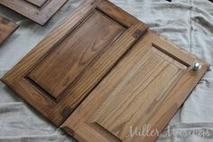 Miller Musings: Staining the Bathroom Cabinets Tutorial