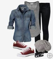 thanksgiving thanksgiving outfit casual outfits for work with j Outfits Casual, Outfits With Converse, Fall Outfits, Maroon Converse Outfit, Casual Jeans, Black Chucks, Black Skinnies, Womens Converse Outfit, Converse Shoes