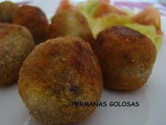 Que he utilizado (para unas 35 unidades de 25 gr.) :   Para la masa:   1 manzana golden  200 gr. de morcilla de arroz  aceite de oliva  ...