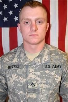 Army SPC James A. Waters, 21, of Cloverdale, Indiana. Died July 1, 2011, serving during Operation Enduring Freedom. Assigned to 1st Battalion, 32nd Infantry Regiment, 3rd Brigade Combat Team, 10th Mountain Division, Fort Drum, New York. Died of injuries sustained when an improvised explosive device detonated near his position during combat operations in Kandahar Province, Afghanistan.