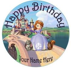 Sofia The First 5 Printable Diy Centerpieces Cake Toppers Picture cakepins.com