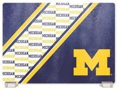 University Of Of Michigan Tempered Glass Cutting Board