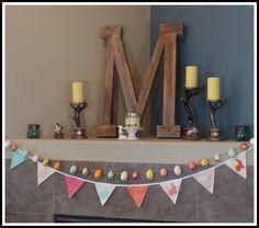 April's Homemaking: Happy Easter 2016 Easter Mantel