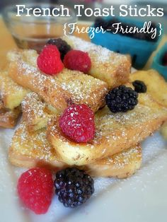 Baked Cinnamon French Toast Sticks Recipe – Freezer Friendly – The Coupon Project – kids friendly meals Breakfast Bar Kitchen, Breakfast For Dinner, Best Breakfast, Breakfast Ideas, Frozen Breakfast, School Breakfast, Cinnamon French Toast Bake, French Toast Sticks, Make Ahead Freezer Meals