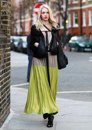 #Londres #London #fashion #mode #moda #style #street #look #outfit #pale #green #long #skirt #jupe #longue #vert #pâle #beige #romantic