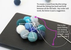 Felt ball rug annotated image 2