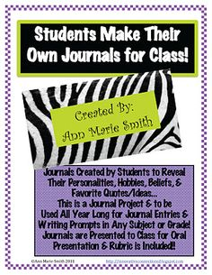INNOVATIVE CONNECTIONS: Back to School Project: Making Personalized Student Journals as seen on Middle School Maestros  www.middleschoolmaestros.com