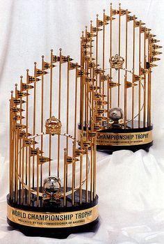 Baseballs 1992 & 1993 Toronto Blue Jays World Series Trophies by Striderv… Blue Jay Way, Go Blue, Blue Jays World Series, Trophy Design, Baseball Training, Baseball Pants, World Of Sports, Toronto Blue Jays, Toronto Maple Leafs