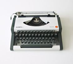 Olympia, Portable Typewriter, Light Touch, Grey Trim, Vintage Typewriters, Contemporary Design, I Shop, Conditioner, Nice