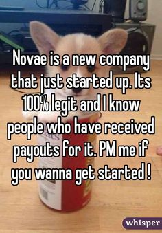 Novae is a new company that just started up. Its 100% legit and I ...