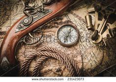 Old Map Compass Stock Photos, Old Map Compass Stock Photography, Old Map Compass Stock Images : Shutterstock.com