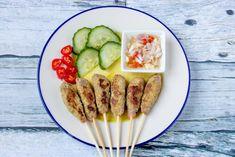Sate lilit Indonesian Cuisine, Sausage, Meat, Food, Sausages, Essen, Indonesian Food, Meals, Yemek
