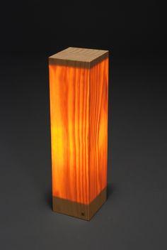Wood Block Lamp by James McNabb