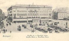 Ilyen is volt Budapest - Gizella (Vörösmarty) tér Budapest, Dresden, Hungary, Old Photos, Paris Skyline, Vintage World Maps, The Past, Louvre, Building