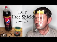 How to make a diy face shield at home in 2 minutes! Diy Mask, Diy Face Mask, Homemade Face Masks, Alternative Health, Facial Masks, Sewing Hacks, Tricks, Just In Case, Origami