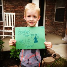 "cute for the last pic. you take of the student. Have another sign that says ""1st day of ___ grade"""
