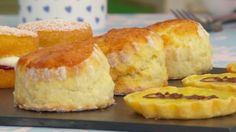GBB This Tea Time Scones recipe appears as one of the technical challenges in the Finale episode of The Great British Baking Show. British Baking Show Recipes, British Bake Off Recipes, Baking Recipes, Dessert Recipes, British Desserts, Baking Breads, Scottish Recipes, Brunch Recipes, Breakfast Recipes